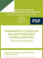 Peran Kepala Sekolah Dalam Rangka Penerapan Kurikulum Aceh