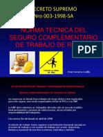 NORMA TECNICA DEL SEGURO COMPLEMENTARIO DE TRABAJO DE RIESGO