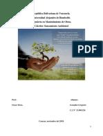 Ética Ambiental. Sanamiento Ambiental