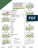2019-20 fisd calendar