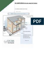 Instalaciones Sanitarias de Una Casa de 2 Pisos