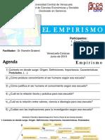 El Empirismo Doctorado en Gerencia Universidad Central de Venezuela