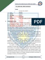 0.Syllabus Inglés Quinto Primaria