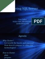 Implementing Clustering Using SQL Server - Tom Pullen
