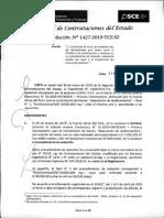 RESOLUCION N°1427-2019-TCE-S2 (RECURSO APELACION)