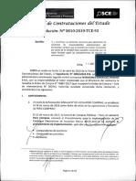 RESOLUCION N°610-2019-TCE-S3 (APLICACION SANCION)