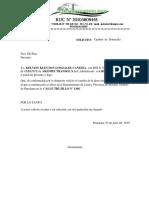 Carta de Solicitud Para Domicilio