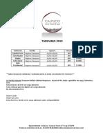 Calfuco Wine Hotel Tarifario 2019