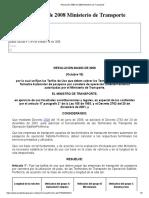 Resolución 4383 de 2008 Ministerio de Transporte
