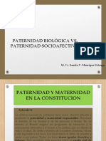 Paternidad Biológica vs. Paternidad Socioafectiva