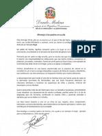 Mensaje del presidente Danilo Medina con motivo del Día del Padre 2019