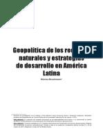 7. Geopolítica de Los Recursos Naturales