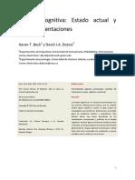 Beck & Dozois (2010). Terapia Cognitiva Estado Actual y Direcciones Futuras