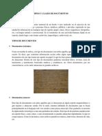 Tipos y Clases de Documentos