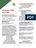 Moraga Rotary Newsletter July 23 2019