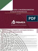 Resultados de inversión en Pemex