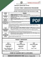Admissions Procedure AY0910-T1