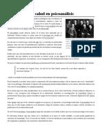 Concepción de Salud en Psicoanálisis