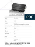 Ficha Tecnica Amplificador Bt4720