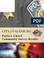 Galesburg Police Chief Community Survey Results