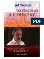 How to Destroy a Country
