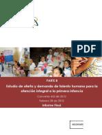 Estudio Oferta Demanda Talento Humano Atencion Integral Primera Infancia