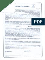 contrato de mandato tránsito Colombia 2019