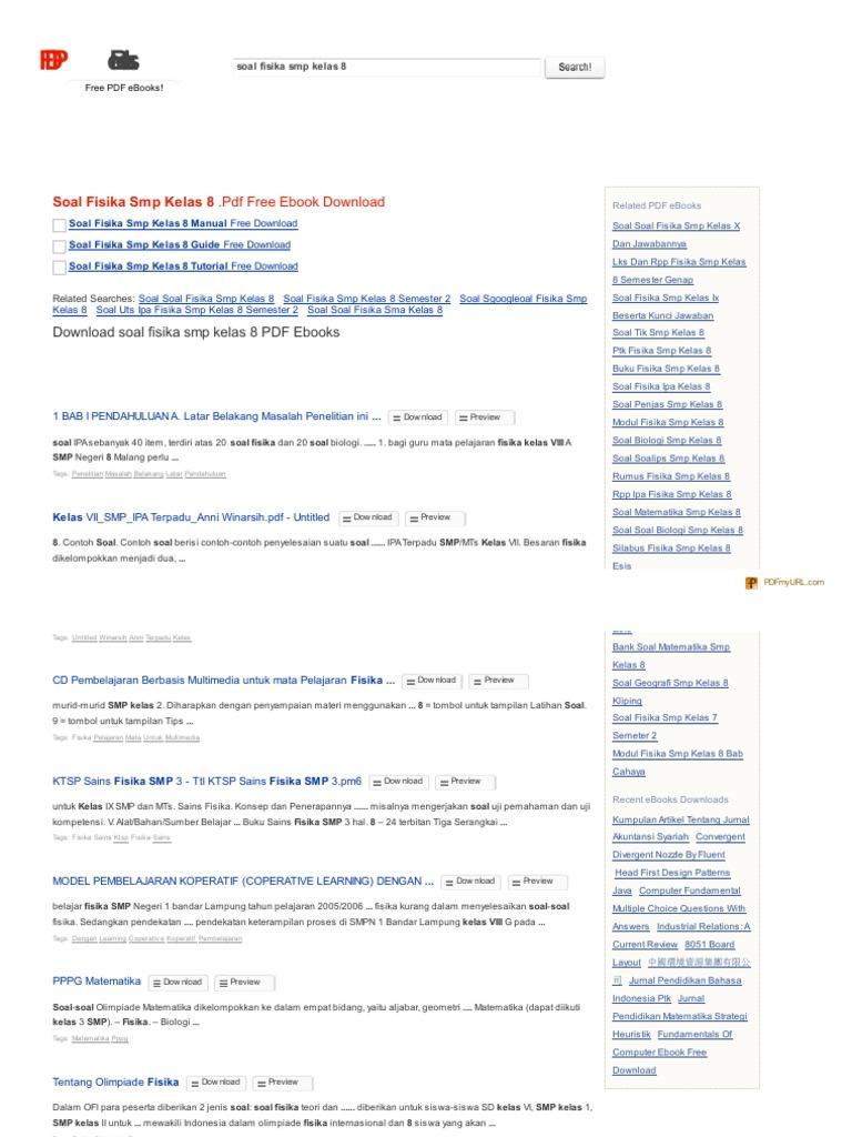 Search Pdf Books Com Soal Fisika Smp Kelas 8 Pdf 2