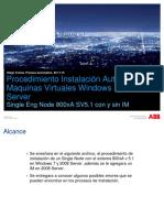 Procedimiento Instalación MV 800xA 5.1