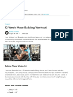 12 Week Mass Building Workout!