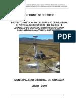 INFORME GEODÉSICO DE UN PROYECTO DE SISTEMA DE RIEGO