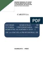 Ejemplo de Informe Final Tutoria -2018 -II