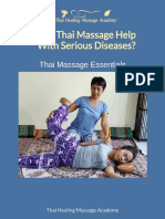 Can Thai Massage Help With Serious Diseases?