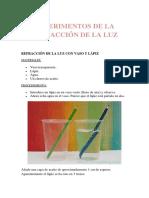 EXPERIMENTOS DE LA REFRACCIÓN DE LA LUZ.docx