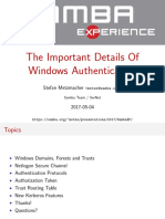 The Important Details of Windows Authentication