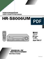 SVHS JVC HR-S8006UM