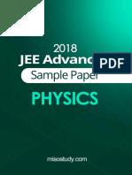 JEE advance sample paper