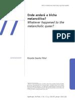 Ricardo Duarte Filho - Onde Andará a Bicha Melancólica