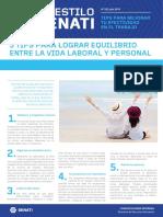 Boletín AES 52 Julio - Tips Para Lograr Equilibrio Entre La Vida Laboral y Personal