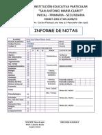 Boleta de Sec. 3ro Eliezer 2019