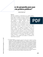 David Harvey - Que tipo de geografia para que tipo de política pública?