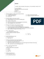 Latihan Soal Logika Matematika