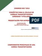 Concepto Para El Cálculo de Correas Transportadoras Cargadas y Atolladas. MineBelt 2013