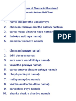 108 Names of Dhanvantari
