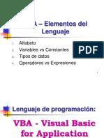 VBA-Elementos Del Lenguaje