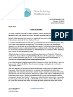Public Statement - Global Technology Asset Partners