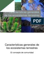 caracteristicas ecosistemas terrestres