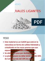 materiales ligantes