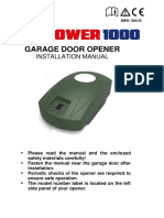 Garage Door Opener Installation Manual