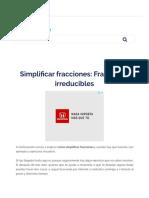 ▷ Cómo simplificar fracciones paso a paso. Ejercicios resueltos.
